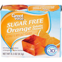 Great Value Sugar Free Orange Gelatin Dessert