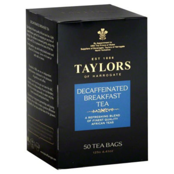 Taylors of Harrogate Tea, Breakfast, Decaffeinated