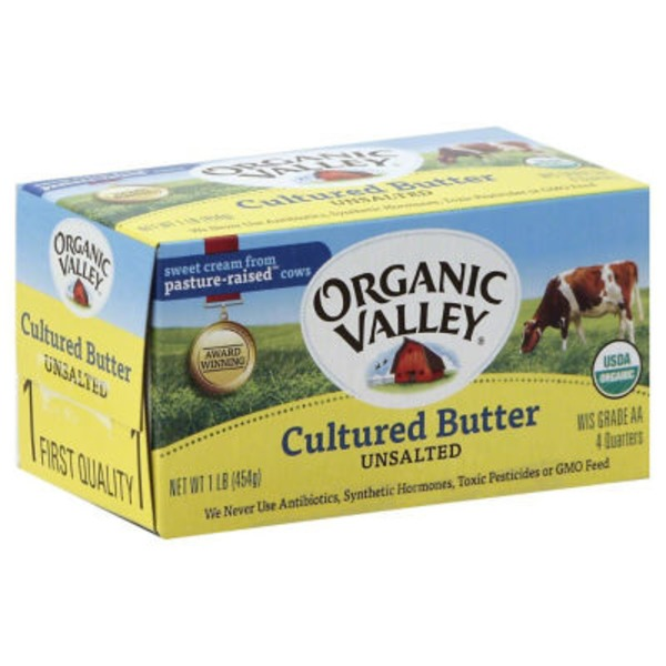 Organic Valley Unsalted Quarters Organic Cultured Butter