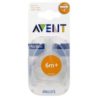 Philips Avent Bottle Nipple Classic (6m+) - 2 CT