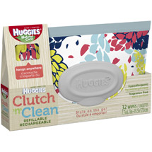 HUGGIES Natural Care Clutch 'n' Clean* Refillable Baby Wipes