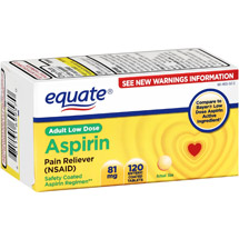 Equate Aspirin 81 Mg Tablets Pain Reliever
