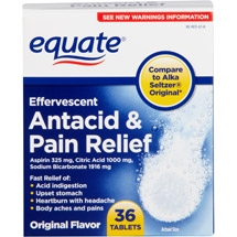 Equate Original Effervescent Antacid & Pain Relief