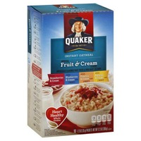 Quaker Oatmeal Fruit & Cream Variety Pack Instant Oatmeal