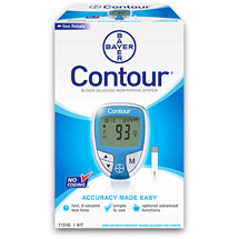 Bayer Contour Blood Glucose Meter Blue