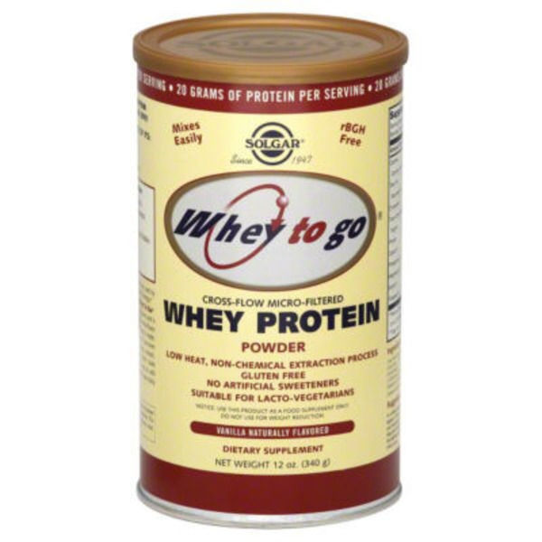 Solgar Whey To Go Whey Protein Powder Natural Vanilla