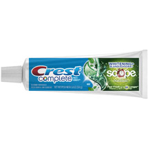 Crest Complete Whitening + Scope Mint Flavor Toothpaste (Pack of 2)