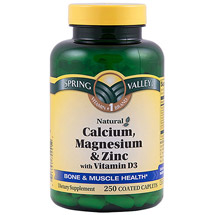 Spring Valley Calcium Magnesium & Zinc Bone Health Dietary Supplement