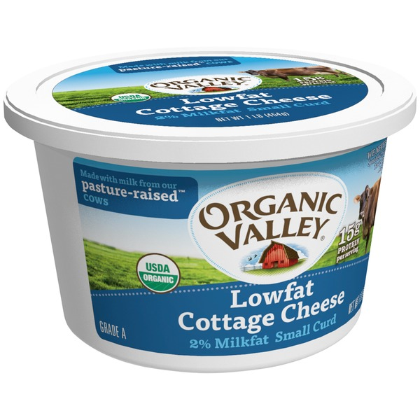 Organic Valley Lowfat Small Curd 2% Milkfat Cottage Cheese