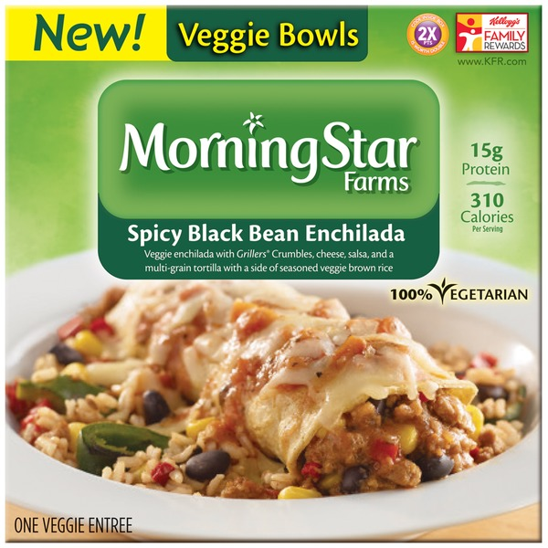 Morning Star Farms Veggie Bowls Spicy Black Bean Enchilada Veggie Entree