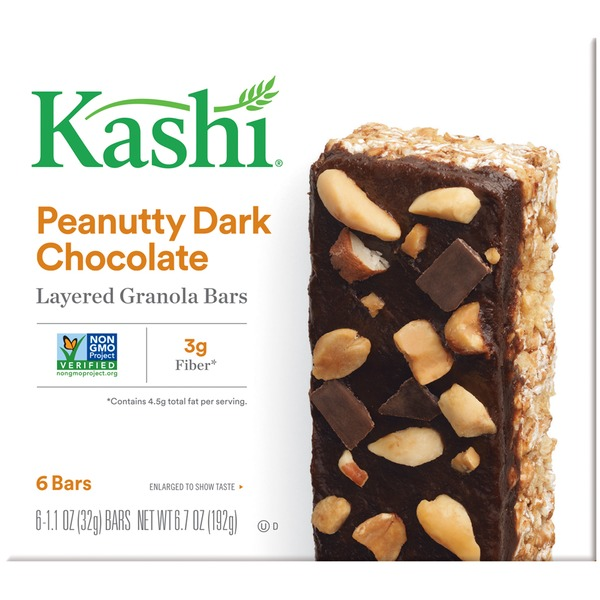 Kashi Layered Peanutty Dark Chocolate Granola Bars
