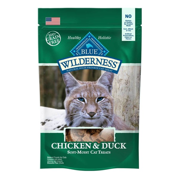 Blue Buffalo Cat Treats Soft-Moist Chicken & Duck