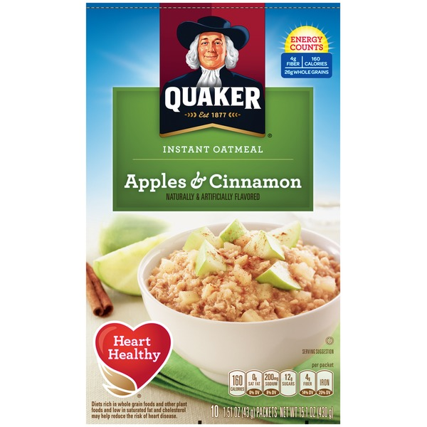 Quaker Apples & Cinnamon Instant Oatmeal