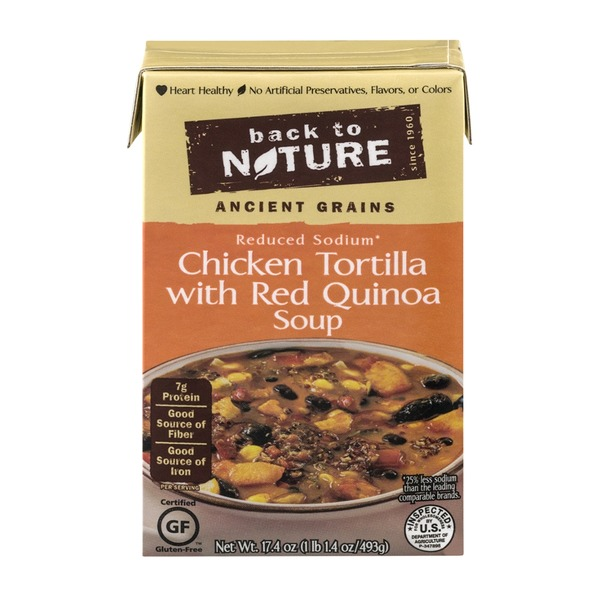 Back to Nature Chicken Tortilla with Red Quinoa Soup Reduced Sodium