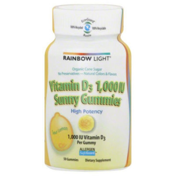 Rainbow Light High Potency 1,000 IU Sunny Gummies Sour Lemon Vitamin D3