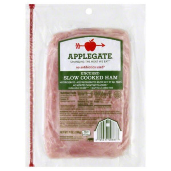 Applegate Naturals Uncured Slow Cooked Ham 7 oz