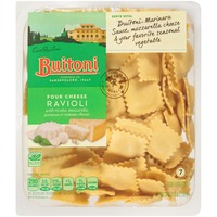 Buitoni Freshly Made. Filled with Ricotta, Mozzarella, Parmesan & Romano Cheeses Four Cheese Ravioli