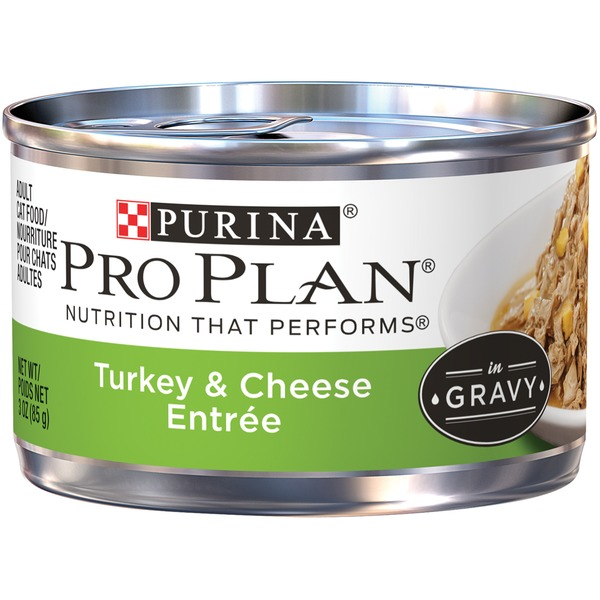 Pro Plan Cat Wet Adult Turkey & Cheese Entree in Gravy Cat Food