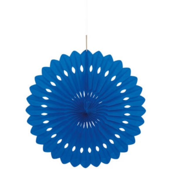 Unique 16 Inch Royal Blue Decorative Fan