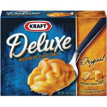 Kraft Deluxe Original Cheddar Macaroni & Cheese Dinner, 14 oz