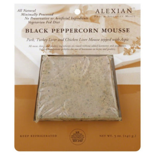 Alexian Black Peppercorn Mousse