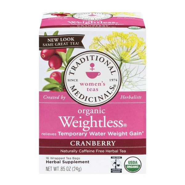 Traditional Medicinals Organic Weightless Cranberry, Caffeine Free