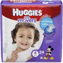 HUGGIES Little Movers Diapers, Size 4, 24 Diapers