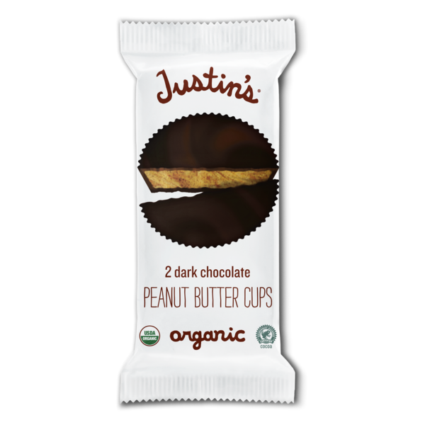 Justin's Dark Chocolate Peanut Butter Cups Organic - 2 CT