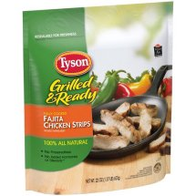 Tyson Grilled & Ready Fajita Chicken Strips, 22 Oz