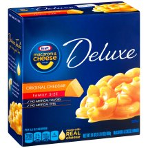 Kraft Deluxe Original Cheddar Macaroni & Cheese Dinner 24 oz. Box