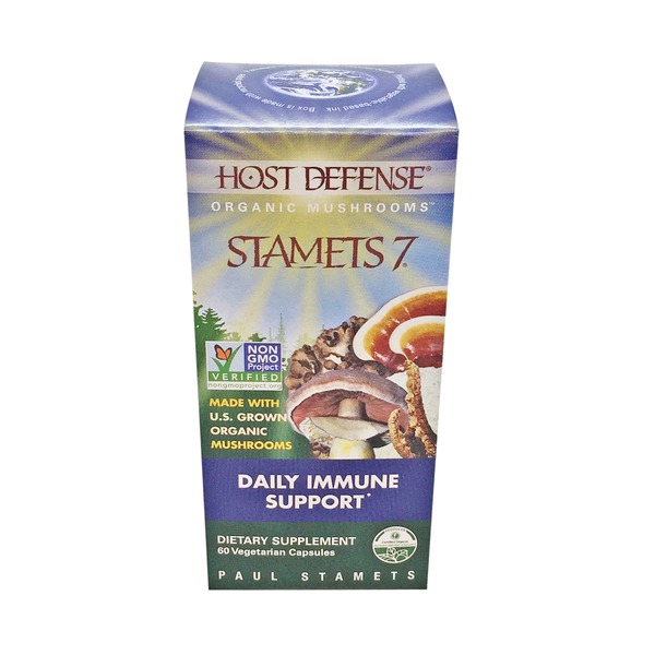 Host Defense Stamets 7 Daily Immune Support Dietary Supplement