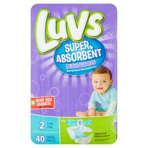 Luvs Super Absorbent Leakguards Diapers, Size 2, 40 Diapers
