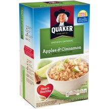 Quaker Instant Oatmeal, Apples & Cinnamon, 10 Count, 1.51 oz Packets
