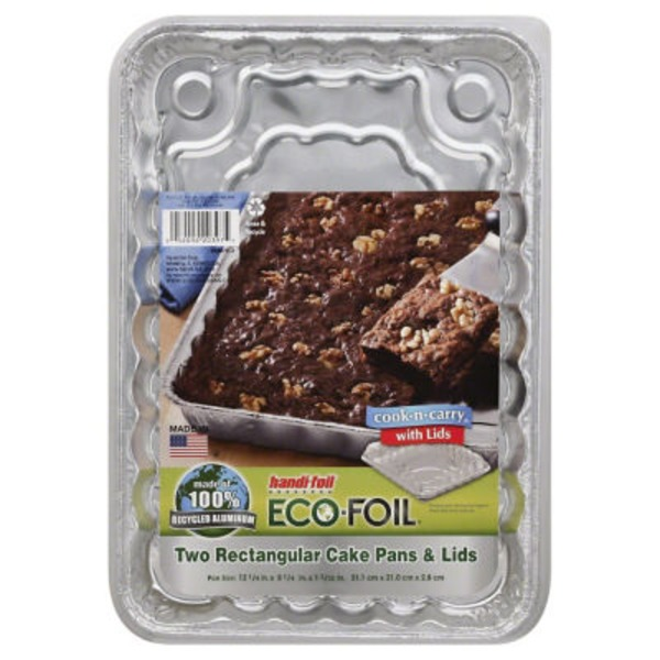 Handi-Foil Pan, Foil, Cake with Lids, Oblong, Wrapper