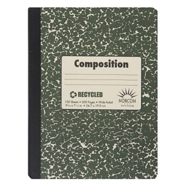 Norcom Recycled Wide Ruled 100 Sheet Composition Book
