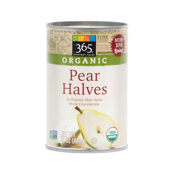 365 Organic Canned Pear Halves
