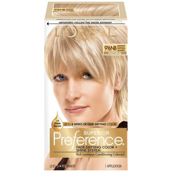 Superior Preference Natural 9-1/2NB Lightest Natural Blonde Hair Color