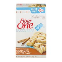 Fiber One 90 Calorie Soft-Baked Bar, Cinnamon Coffee Cake, 12 Fiber Bars, 10.6 oz (Value Pack), 0.89 OZ