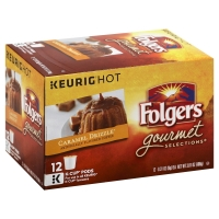 Folgers Gourmet Selections Coffee Pods K Cups 100% Arabica Caramel Drizzle
