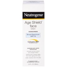 Neutrogena Age Shield Anti-Oxidant Face Lotion Sunscreen, Broad Spectrum Spf 70, Oil-Free Sunscreen, Travel Size 3 Fl. Oz.