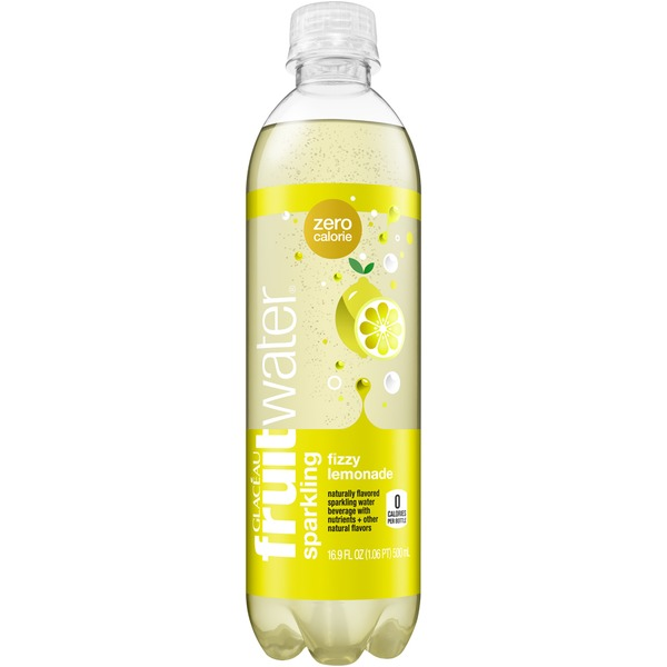 Glaceau Fruitwater Fizzy Lemonade Sparkling Water Beverage