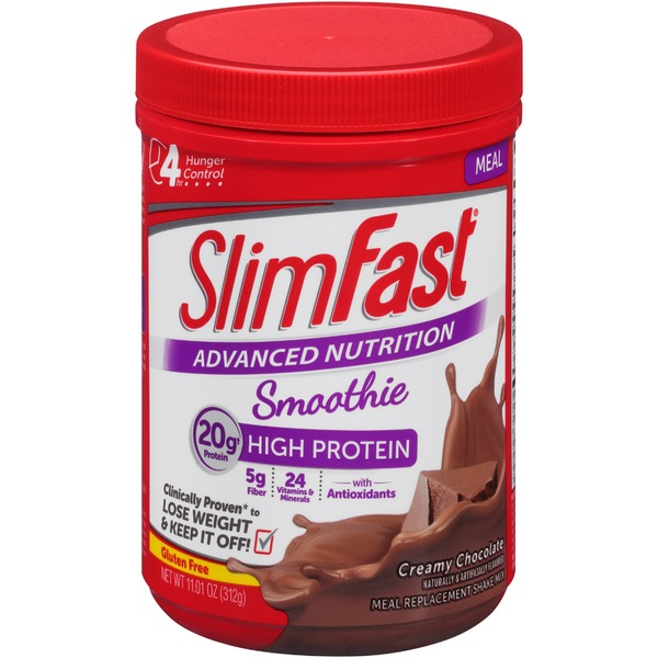 Slimfast Advanced Nutrition Smoothie Creamy Chocolate Meal Replacement  Shake Mix