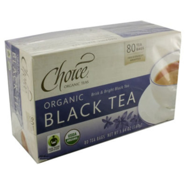 Choice Organic Teas Black Tea - 80 CT