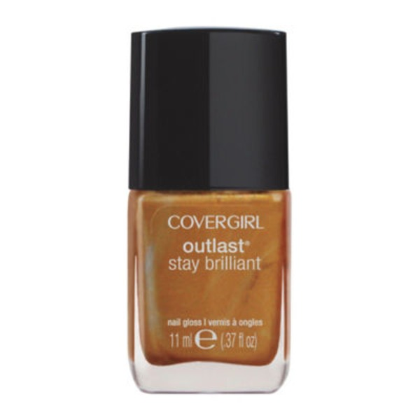 CoverGirl Outlast Stay Brilliant COVERGIRL Outlast Stay Brilliant Nail Gloss, Camel 0.37 fl oz (11 ml) Female Cosmetics