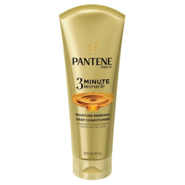 Pantene Daily Moisture Renewal Pantene Moisture Renewal 3 Minute Miracle Deep Conditioner 8 fl oz  Female Hair Care