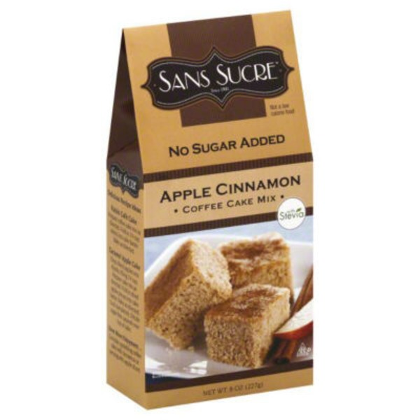 Sans Sucre Coffee Cake Mix Apple Cinnamon No Sugar Added