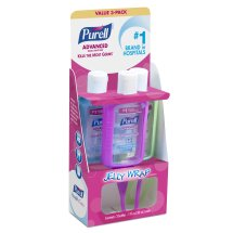 Purell Advanced Refreshing Gel Hand Sanitizer On the Go Jelly Wrap Carriers, 1 fl oz, 3 count