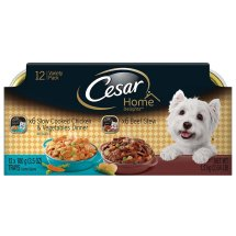 CESAR HOME DELIGHTS Variety Pack Chicken and Vegetables and Beef Stew Dog Food (12 Count)