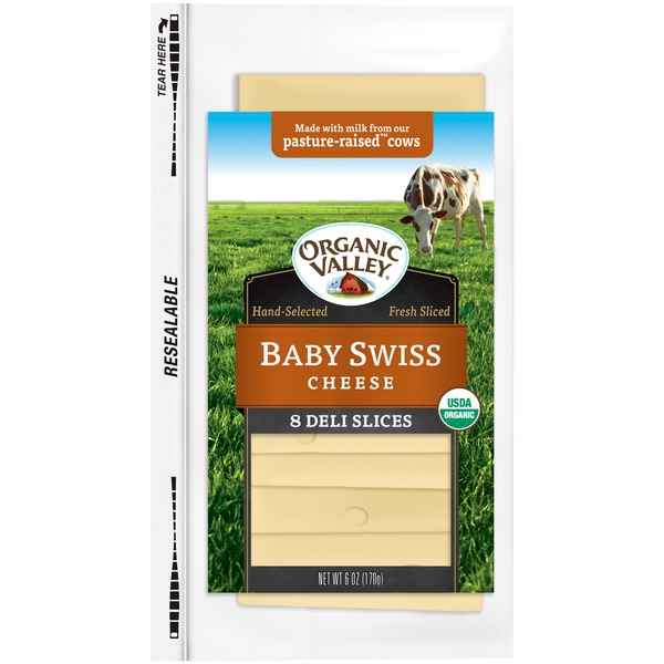 Organic Valley Baby Swiss Slices Cheese
