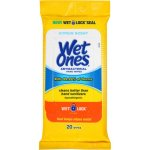 Wet Ones Citrus Antibacterial Hand Wipes, 20 Ct